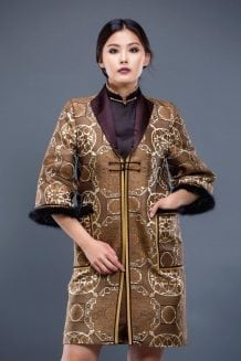 Brown Mongolian Women's Dress