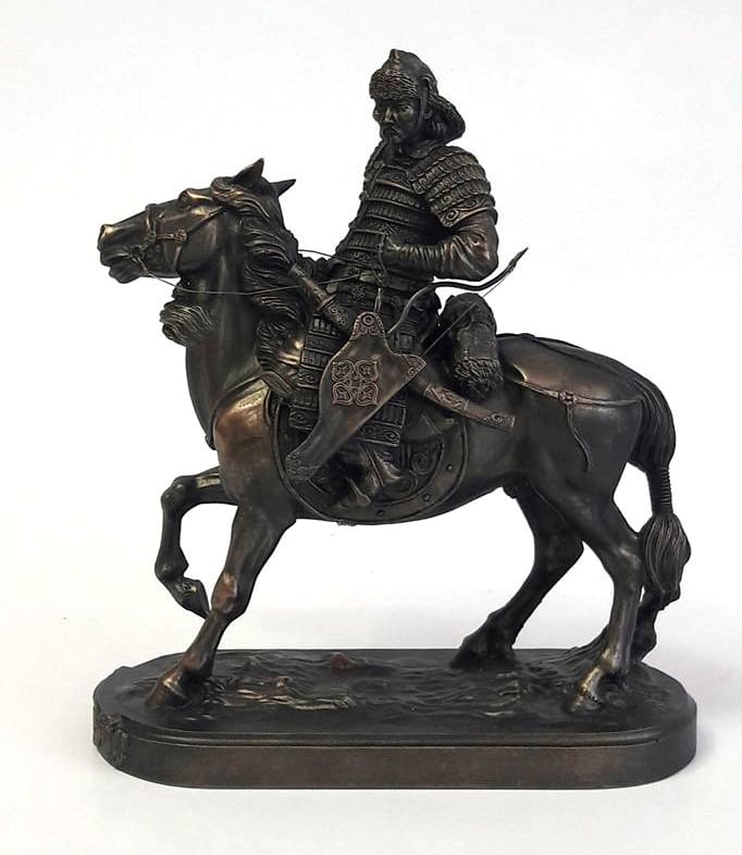 Mongolian Warrior on Horse