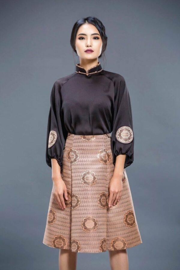 Black Mongolian Women's Dress 3