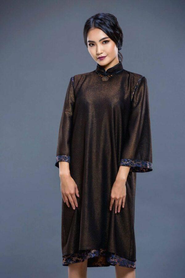 Brown Mongolian Women's Dress