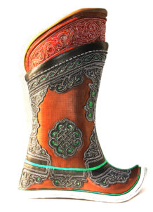 Embroidered Brown Boots with Decorations, 52 Pattern
