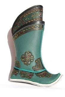 Embroidered Green Boots