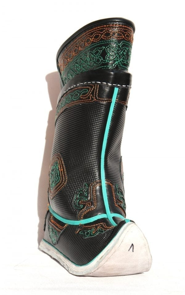 Embroidered Black Boots
