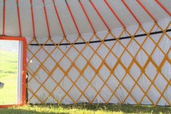 Inside Camping Yurt