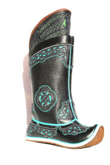 Mongolian Dark Boots with 32 Pattern