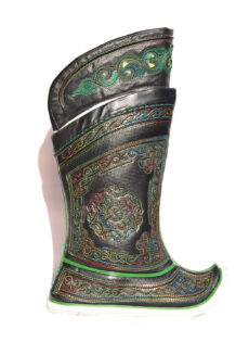 Mongolian Dark Boots with 64 Patterns and Ornaments