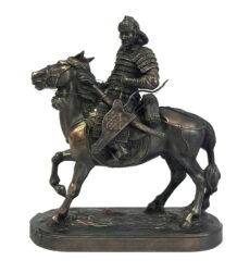 Mongolian-Warrior-with-Bow-Sculpture-1