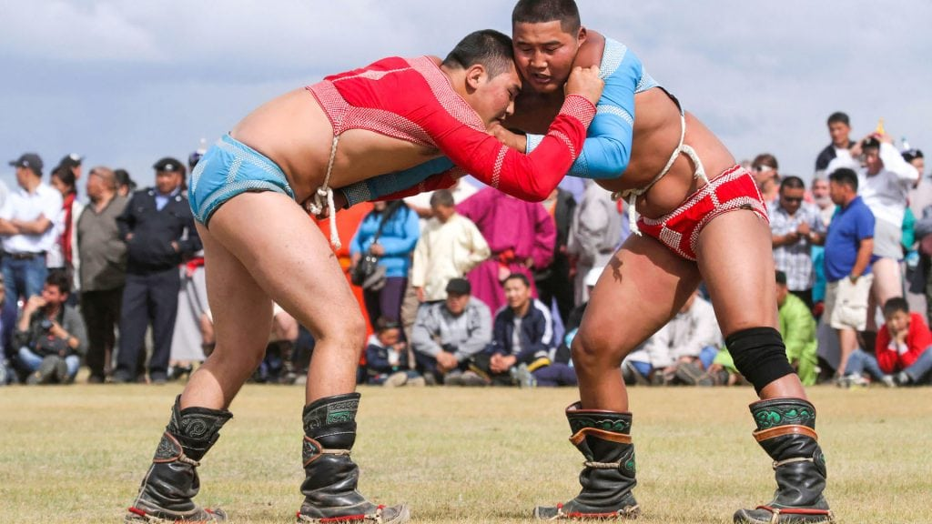 Mongolian Wrestling Competition