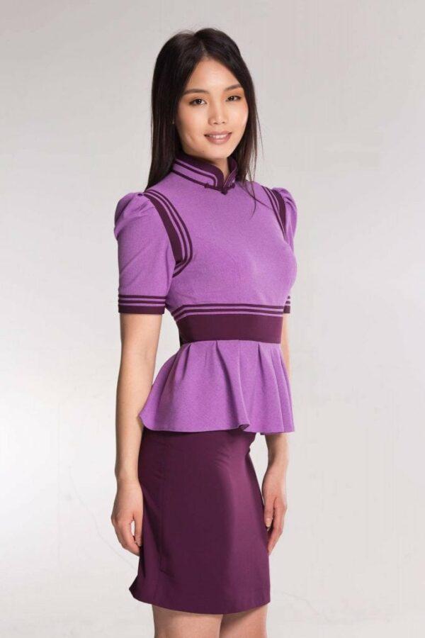 Purple Mongolian Women's Dress