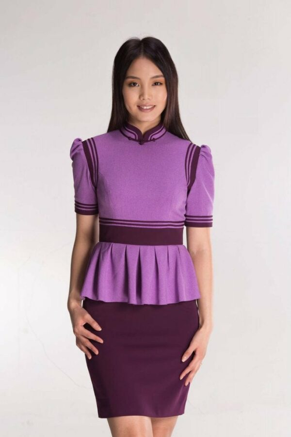 Purple Mongolian Women's Dress