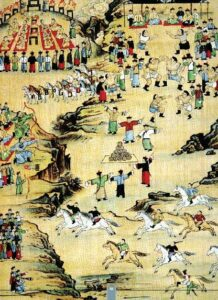 Naadam Festival Painted by Famous Artist