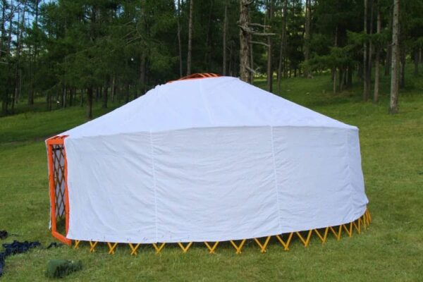 Looking from Side of Camping Yurt