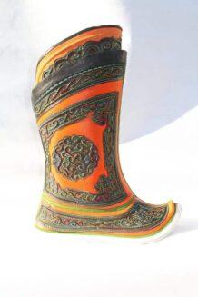 Yellow Mongolian Boots