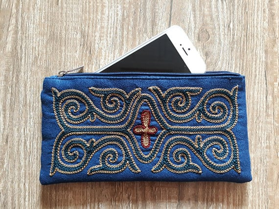 Embroidered Blue Case