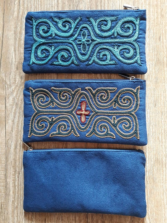 Embroidered Blue Cases