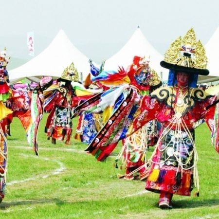Religious Mask Dancing Ceremony