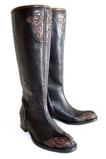 Black Mongolian Boots