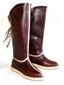 Maroon Mongolian Boots
