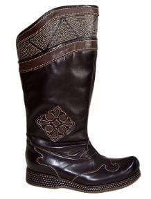 Dark Brown Mongolian Boots
