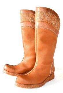 Orange Mongolian Boots