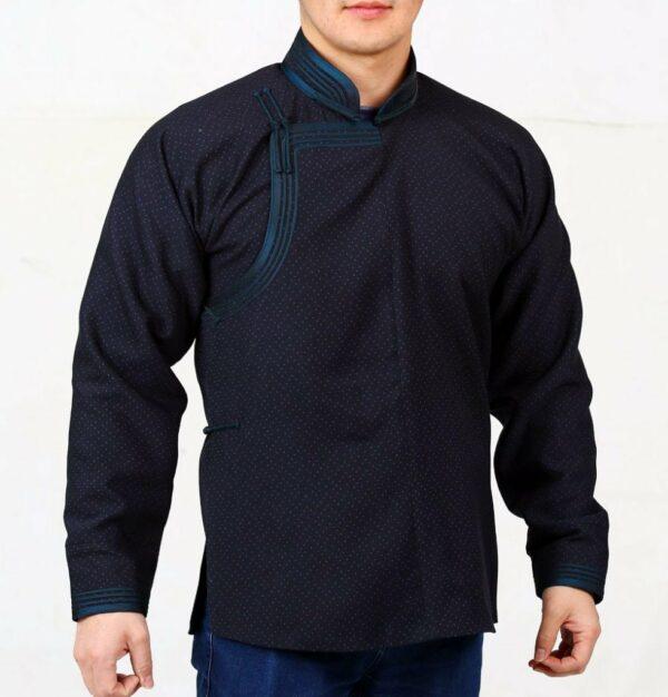 Black Mongolian Deel Shirt