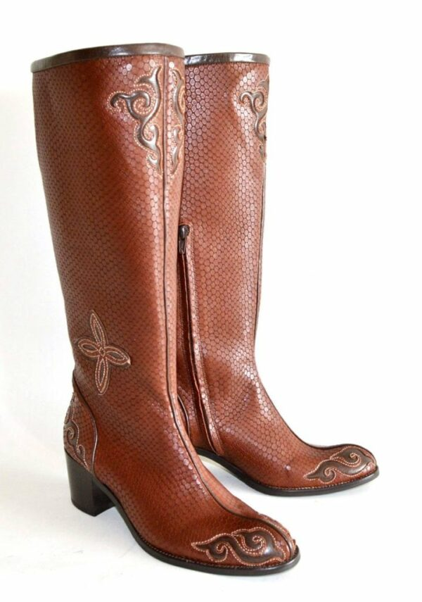 Brown Mongolian Boots