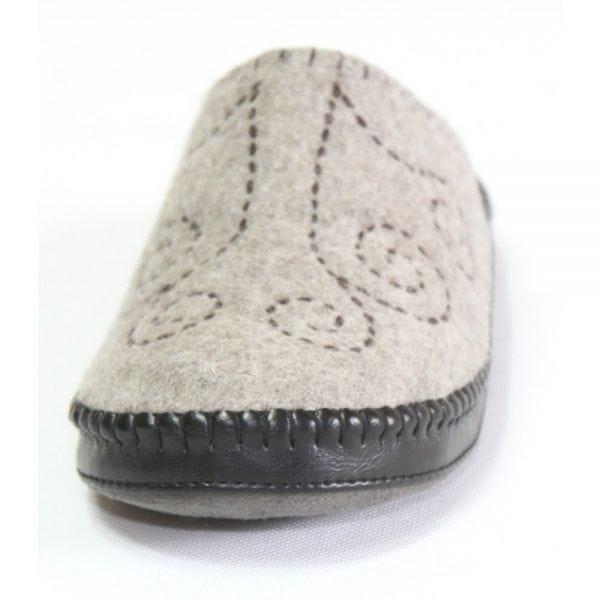 Front of Grey Slipper 4