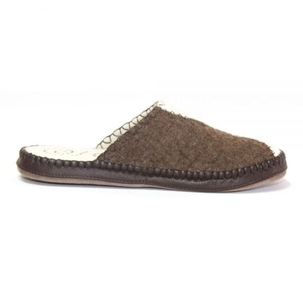 Right Side White and Brown Slipper