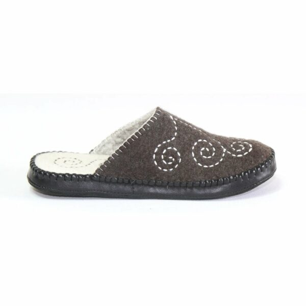 Right Side Black Slipper