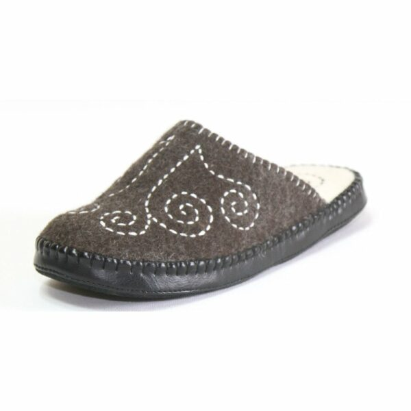 Side of Black Slipper
