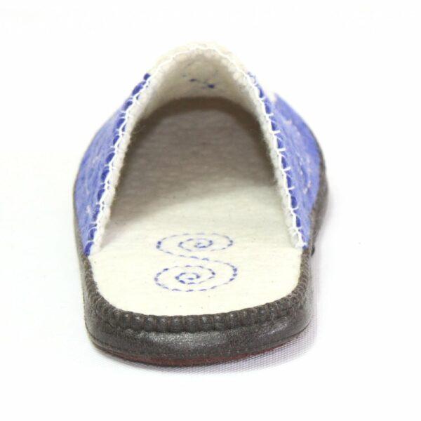 North White and Blue Slipper