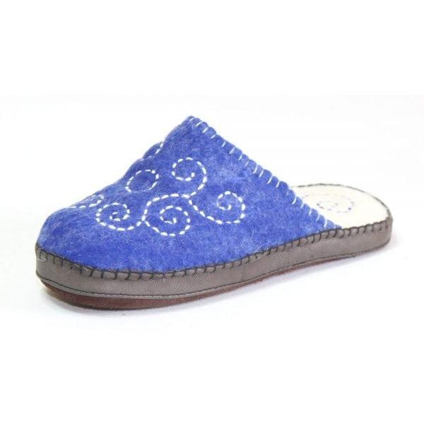 Side of Blue Slipper