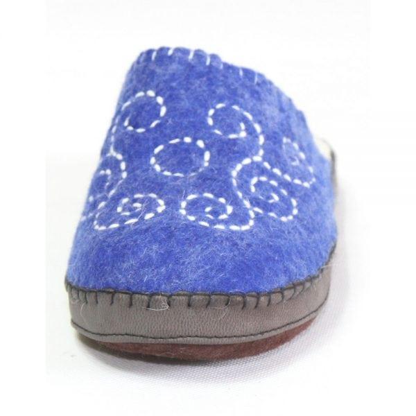 Front of Blue Slipper