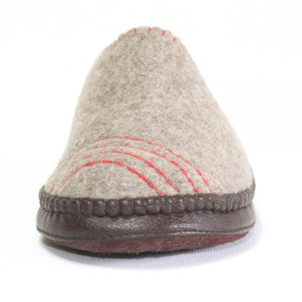 Front of Grey Striped Slipper