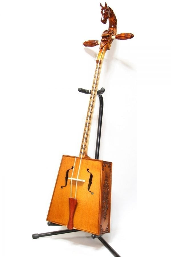 Side of Morin Khuur with 12 Animal Pattern