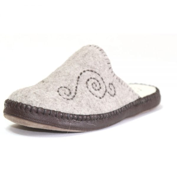 Left Side of Grey Slipper 3