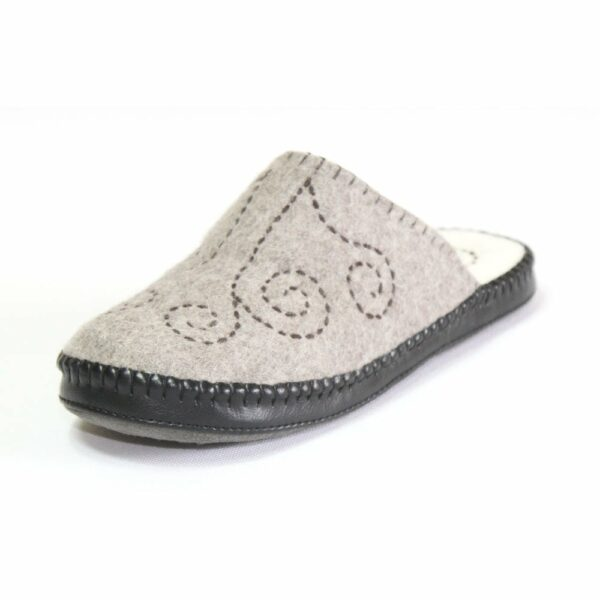 Left Side of Grey Slipper 4