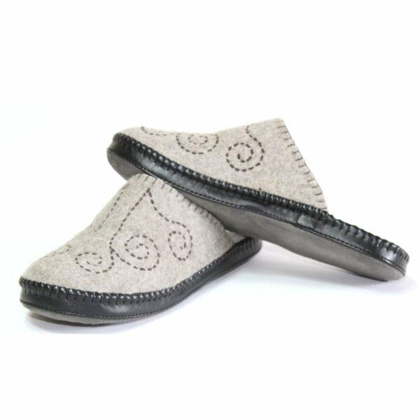 Left Side of Grey Slipper 4