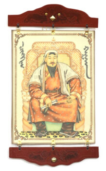 Leather-Wall-Art-with-Chinggis-khaan