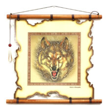 Leather-Wall-Art-with-Wolf