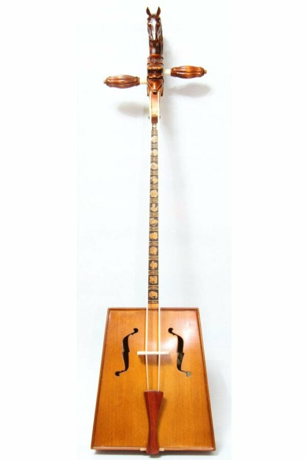 Front of Morin Khuur with 12 Animal Pattern