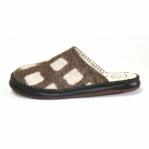 Left Side of Brown Slipper