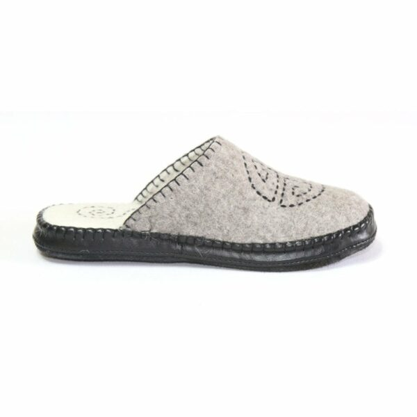 Right Side of Grey Slipper