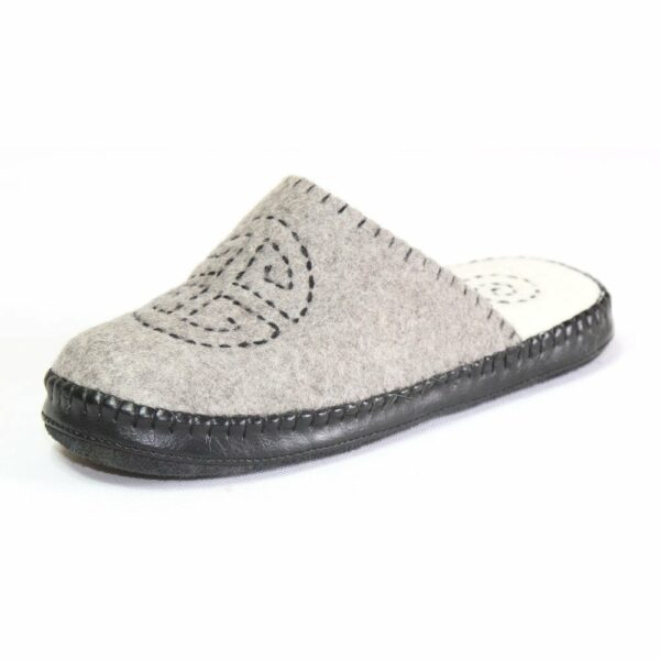 Left Side of Grey Slipper