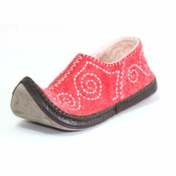 Side of Red slipper