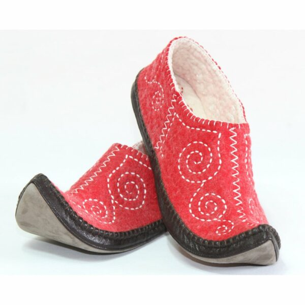 Left Side of Red slippers