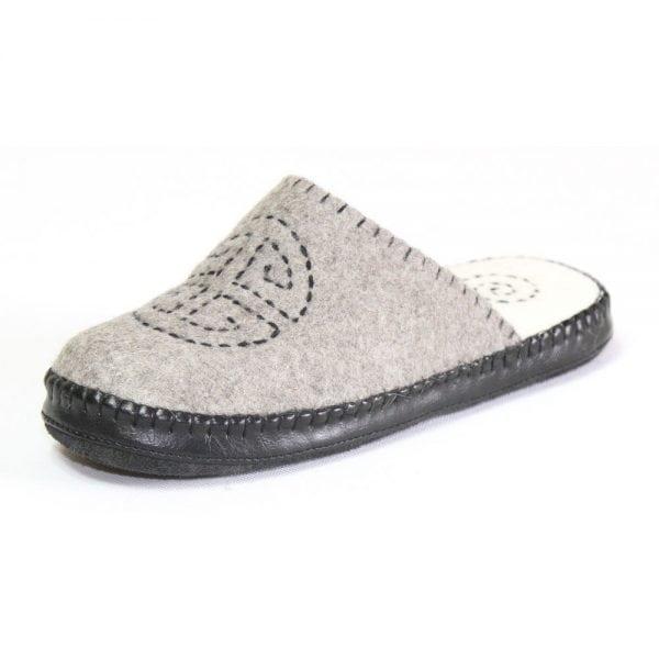 Left Side of Grey Slipper