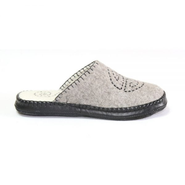 Right Side of Grey Slipper