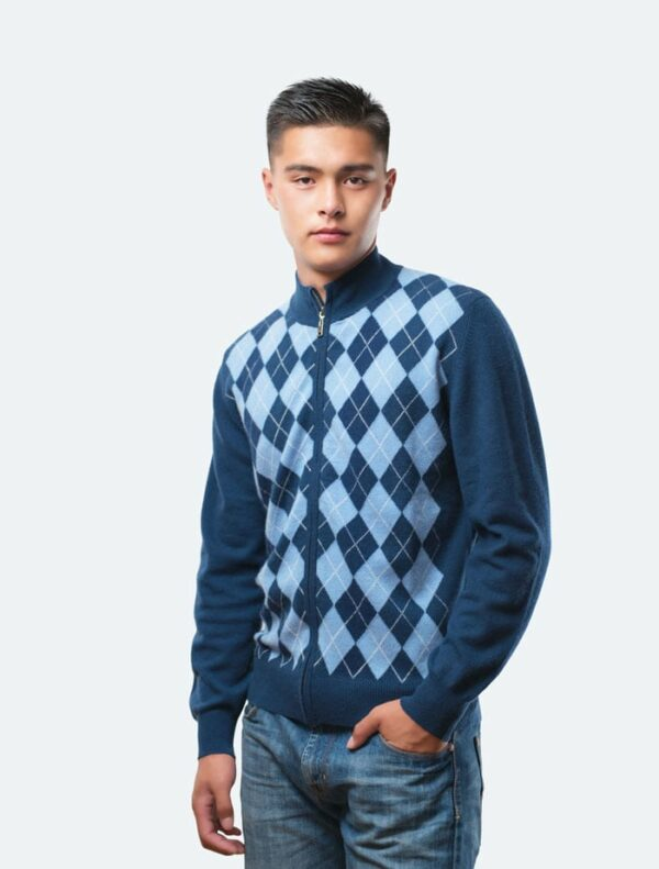 Blue Men's Cardigan