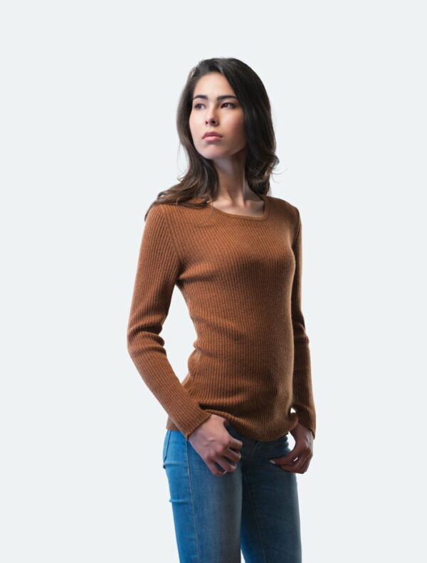 Brown crew neck